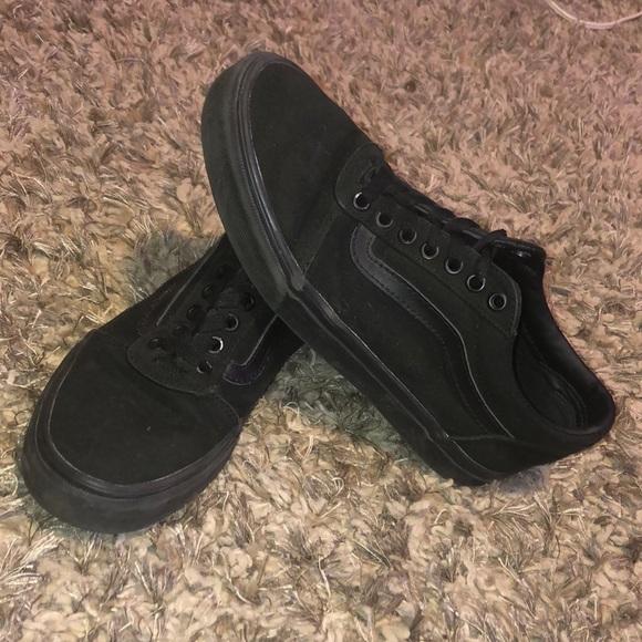 Vans Shoes | Plain Black Vans Shoes